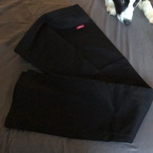 Dickies 5 pocket slim boot cut pants.